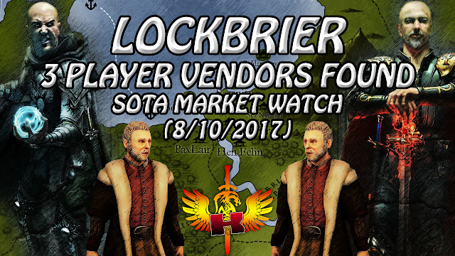 Lockbrier, 3 Active Player Vendors Found And Checked (8/10/2017)
