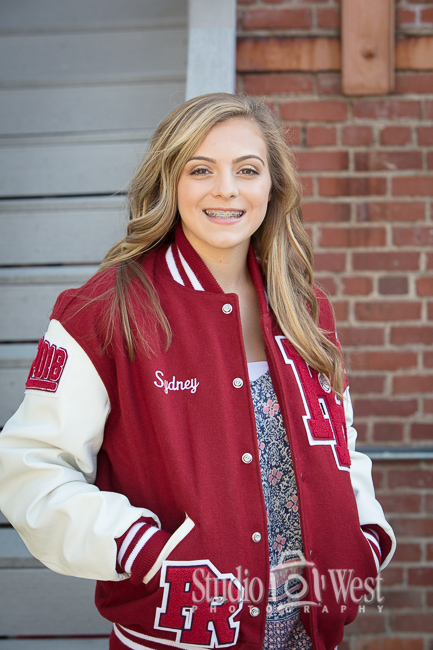 Paso Robles Letterman Jacket Senior Portrait Photographer - Studio 101 West Photography