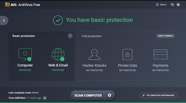تحميل برنامج AVG مجانا للكمبيوتر AVG AntiVirus FREE 17.9