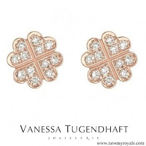 Meghan Markle wore Vanessa Tugendhaft Precious Clover Charm Stud Earrings