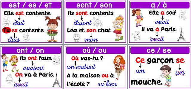 A l 39 encre violette les homophones grammaticaux for Dans homophone