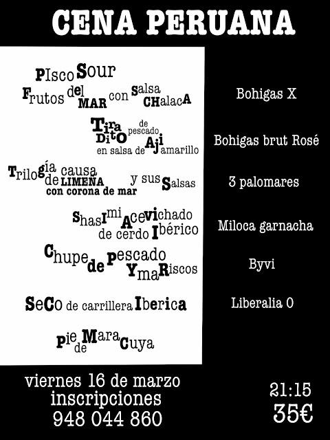 Cena Peruana este viernes 16 a las 21:15 en Ansoleaga 33.