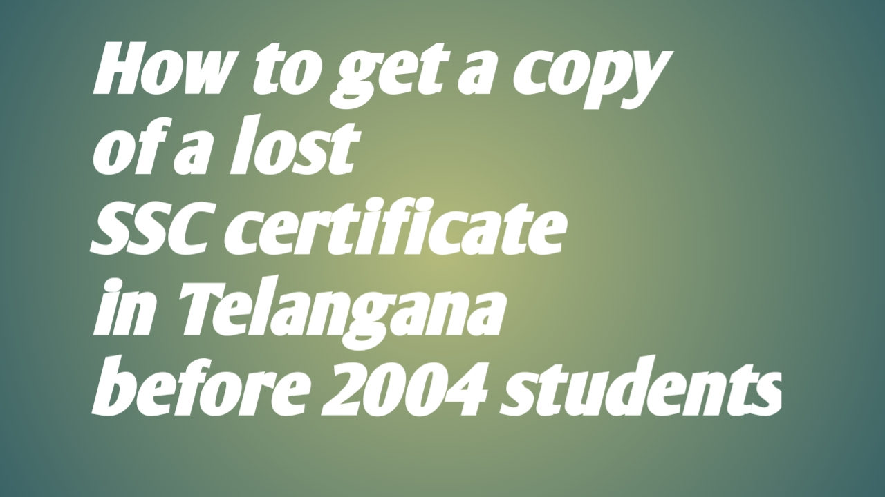 tsurduteachers: How to get a copy of a lost SSC certificate in