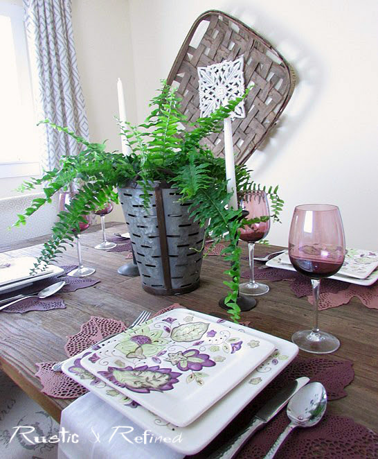 Simple and elegant dining at home
