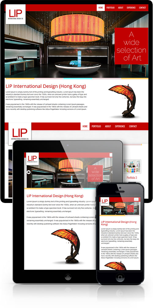 Responsive Interior  website design