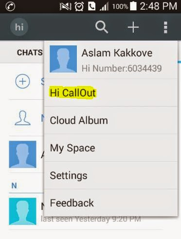Hi: A Free International Call Android App | Infolet
