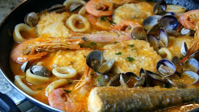 zarzuela de pescado para Semana Santa