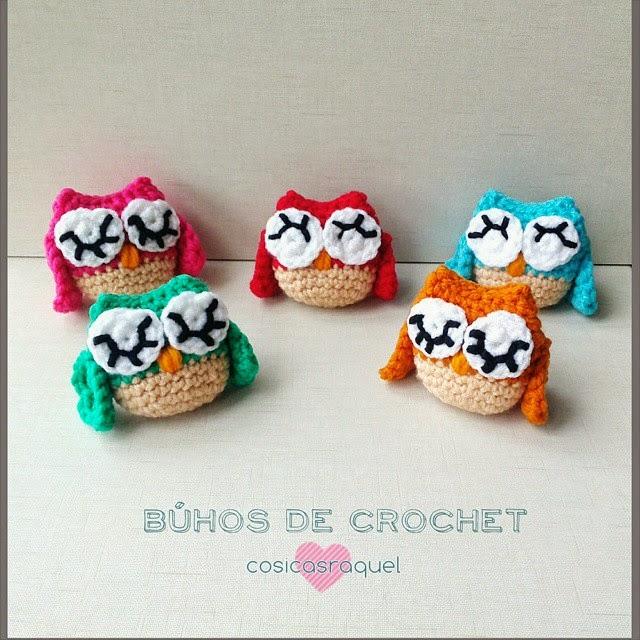 cosicasraquel: Búhos de Crochet / Especial Día de la Madre