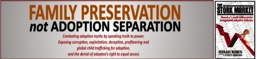 FAMILY PRESERVATION not Adoption Separaration