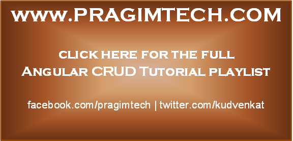 angular crud tutorial