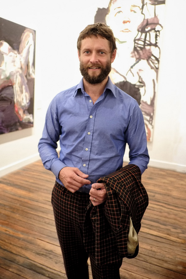 Portrait of artist Ben Quilty at the opening of 'after Afghanistan' NAS 2013
