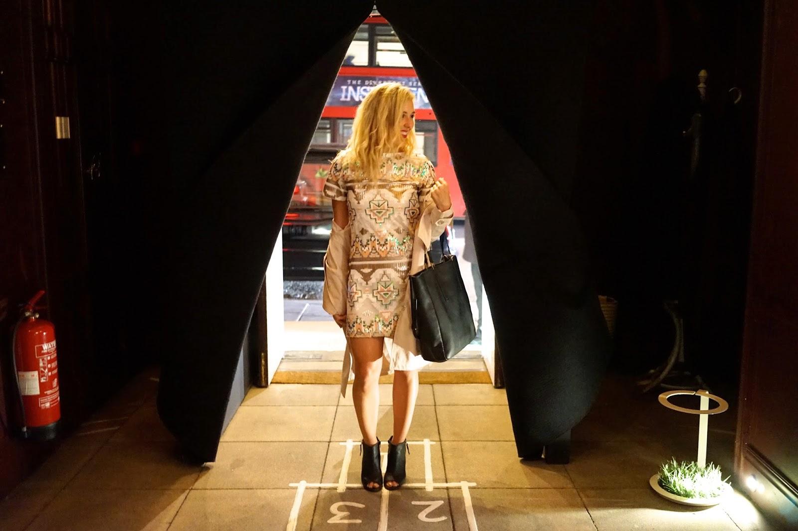 Rare London sequin dress