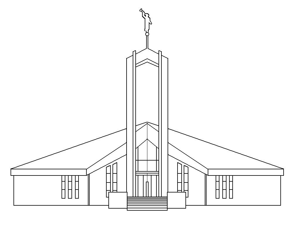 Washington Dc Temple Coloring Page Sketch Coloring Page