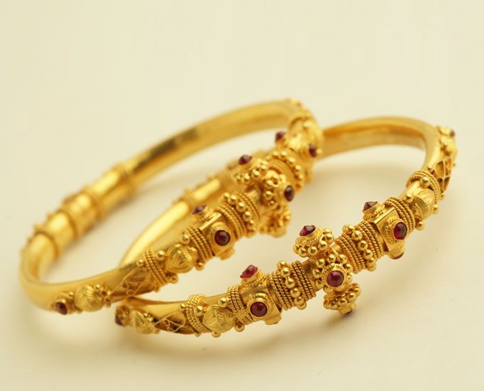 Plain gold earrings for women