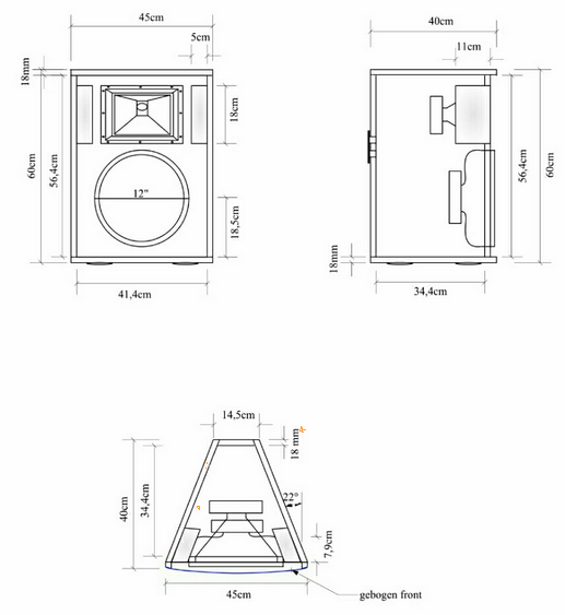 ukuran skema box speaker 12 single ql12