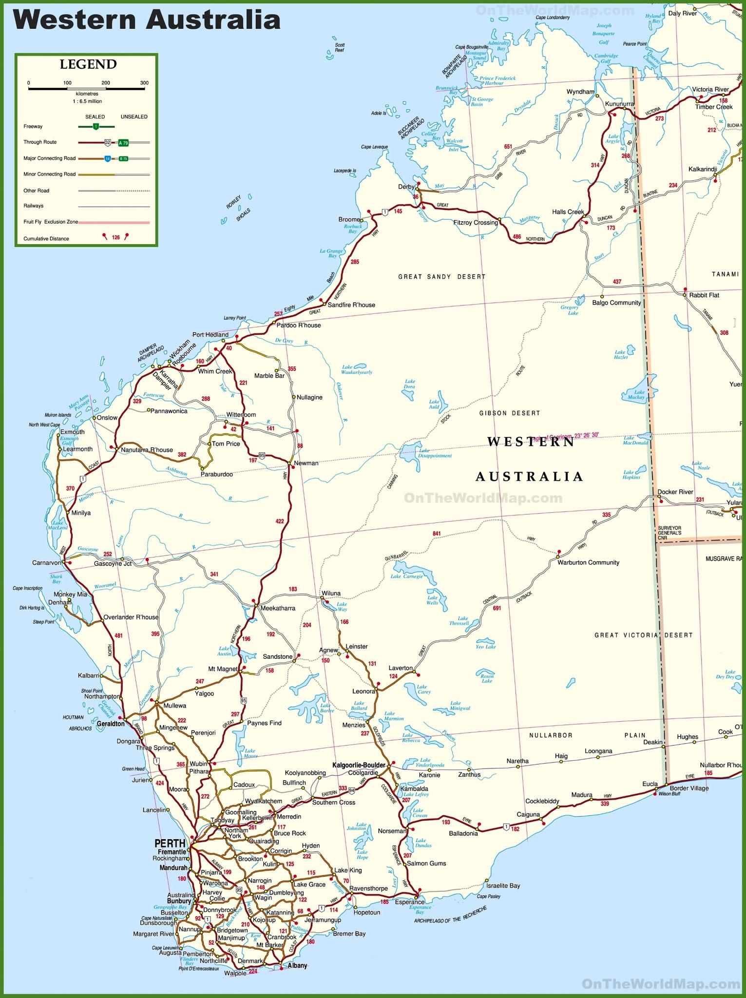 Western Australia Map Car Radio GPS