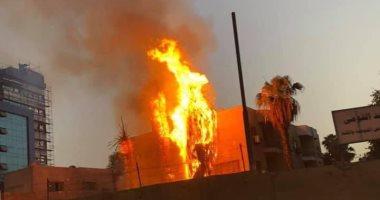 حريق مستشفي حميات إمبابة دون اصابات