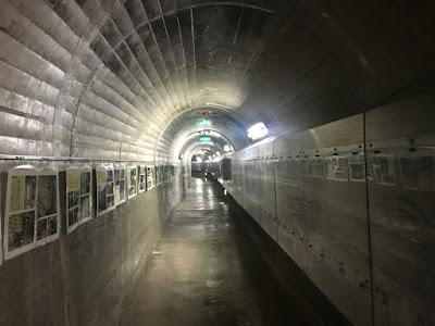 三国川ダムの内部通路