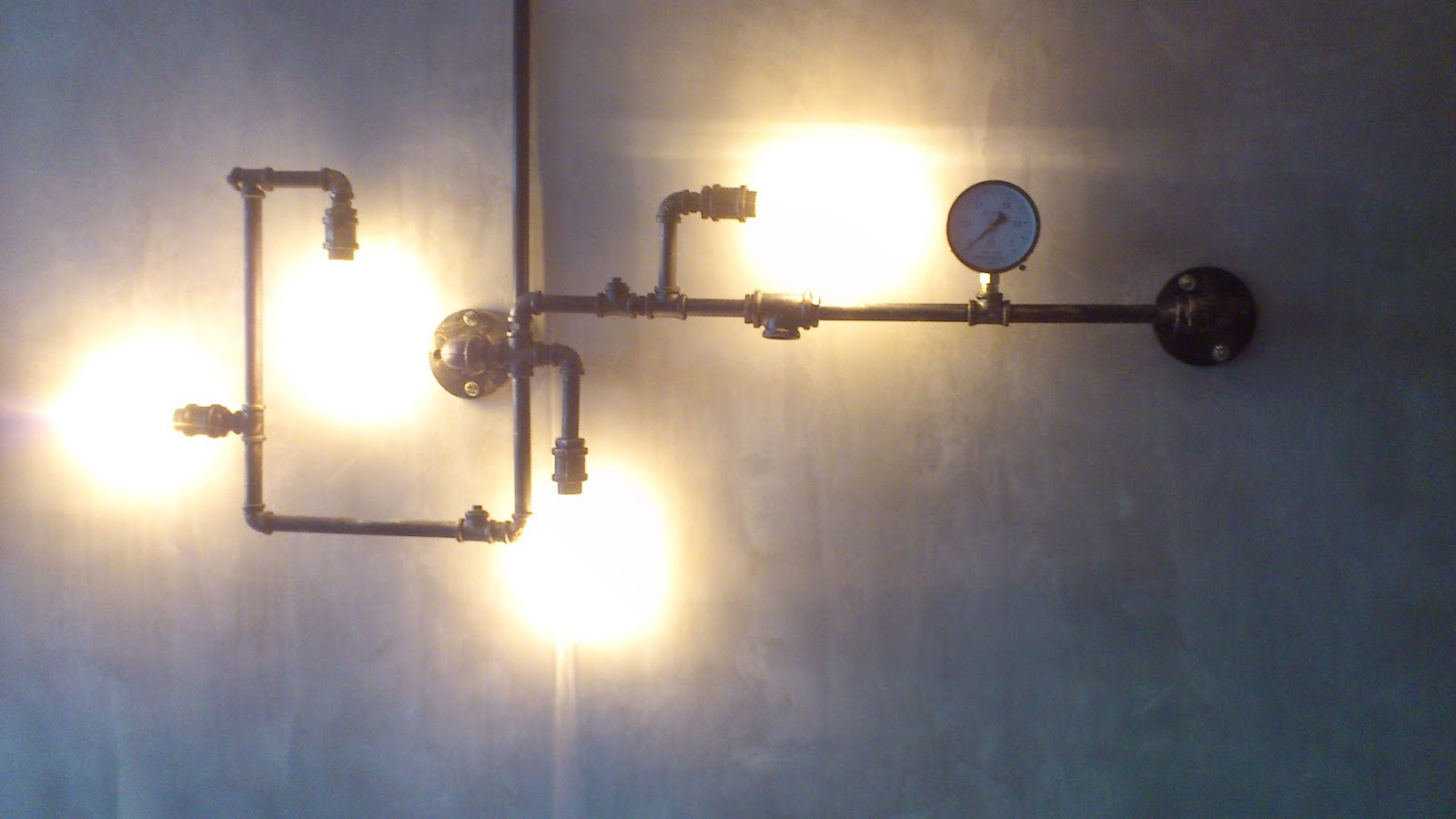 Pipe Light Fixtures My Knick Knack Decors Steampunk Gas Pipe Light