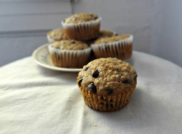 Oatmeal Chocolate Chip Cookie Muffins