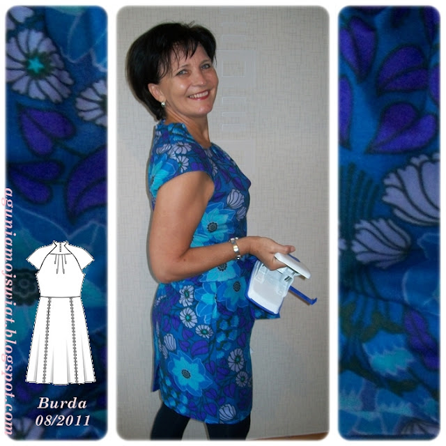 Chabrowa sukienka Burda 08/2011