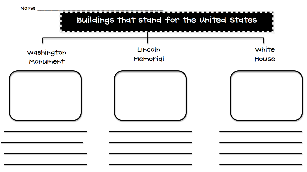 Flipping for First Grade!: American Symbols and Monuments