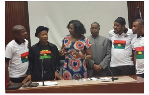 See the drama that happened between Biafrans and Presidency in Canada
