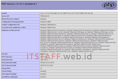 PHP Info - ITSTAFF.web.id