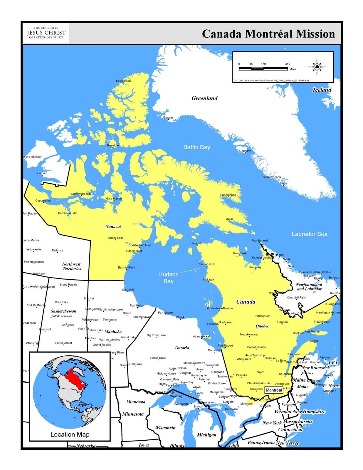 خريطة كندا مونتريال Kharita Blog