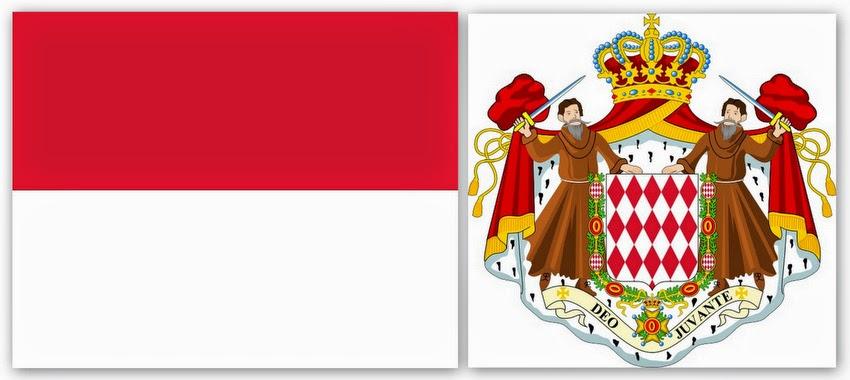 Флаг и герб Монако