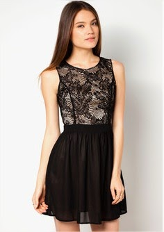 mini dress hitam