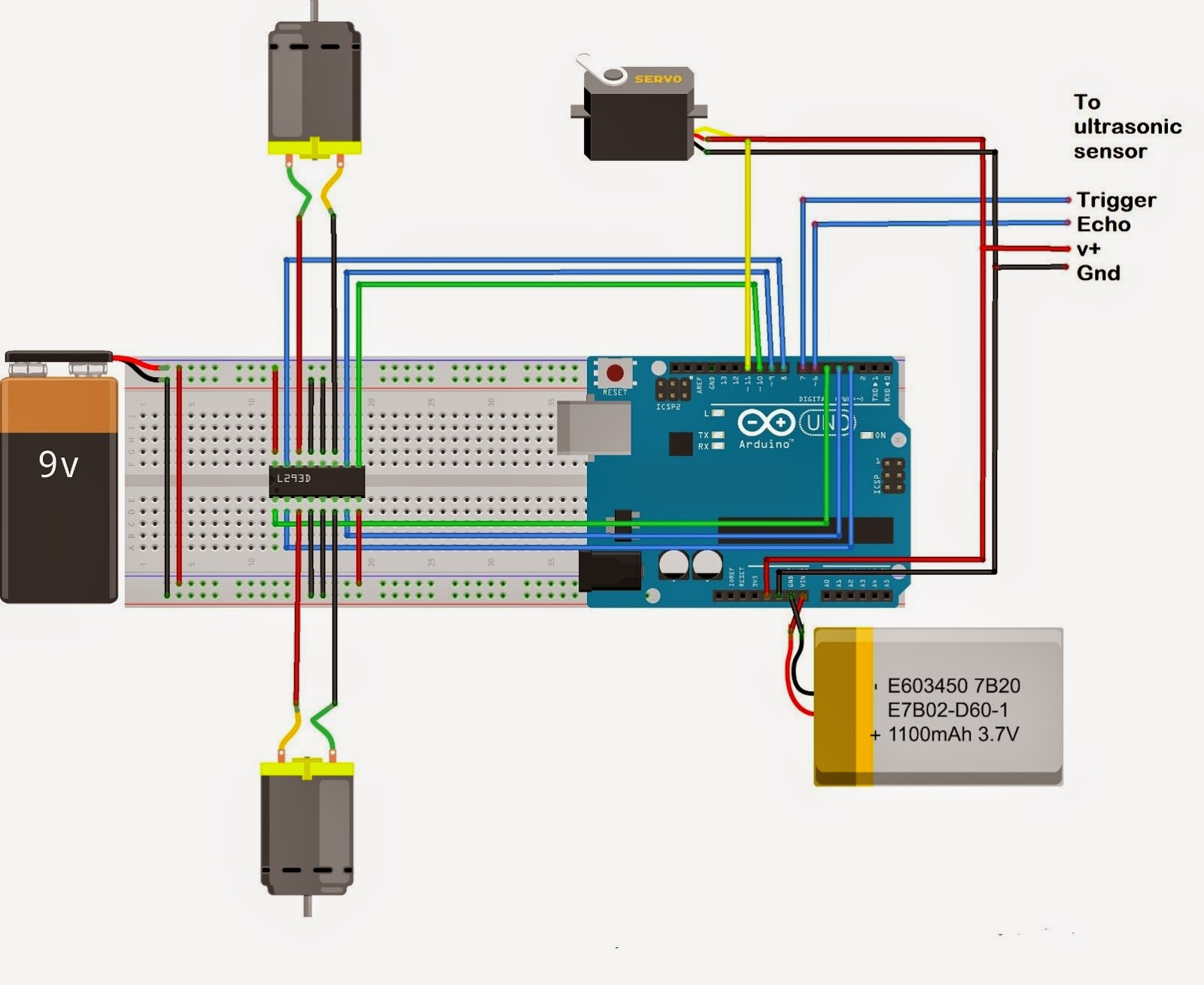 pin 7 arduino vw golf mk4 headlight switch wiring diagram control a dc motor with and l293d chip