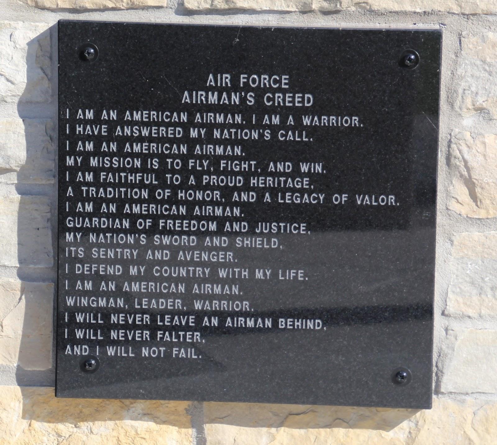 Wisconsin historical markers veterans memorial park of oconomowoc veterans memorial park of oconomowoc air force airmans creed altavistaventures Images