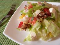 Salata iceberg cu muschi file si branza