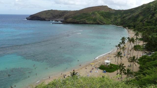 Hawaii - malerischer Strand Hanauma Bay auf Oahu