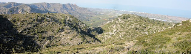 Vista del corral de Foquio des del Picaio, Mondúver