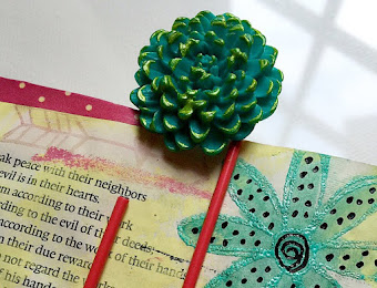 "Add a ""POP"" of Spring to your art journaling..."