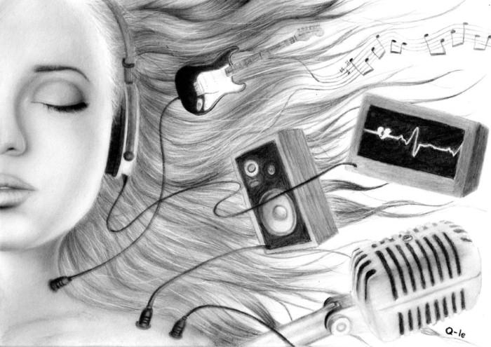 Рисунки карандашом. Q-Le 9