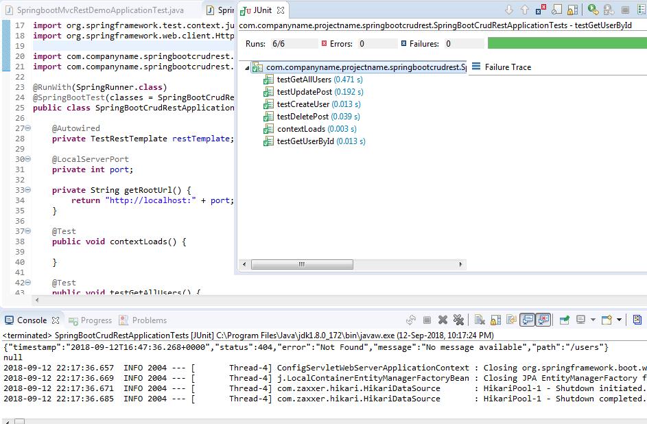 Spring Boot 2 Hibernate 5 MySQL CRUD REST API Tutorial