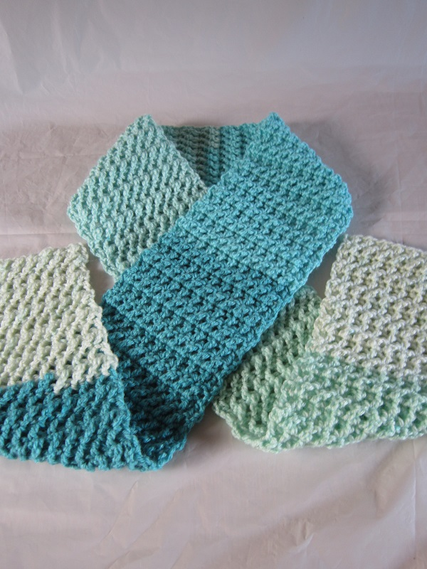 free pattern, crochet, scarf, Caron Cakes, Faerie Cake