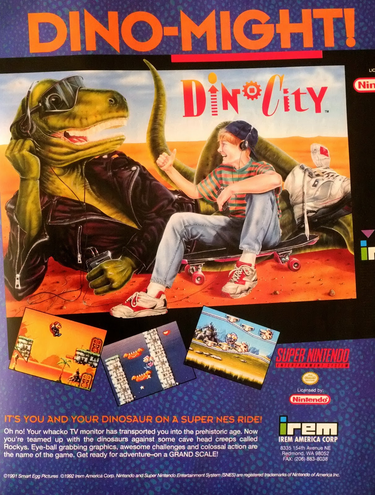 Dino City for Super NES advertisement