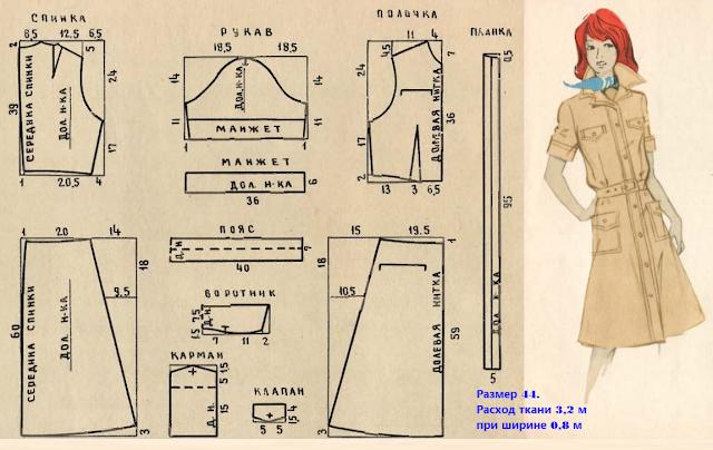 Как сшить платье сафари