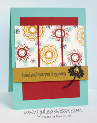 Stampin' Up! Paisleys & Posies Card #stampinup 2016 Holiday Catalog www.juliedavison.com