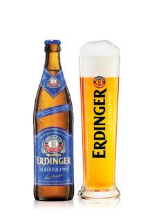 Erdinger Alkoholfrei, cerveza de trigo alemana sin alcohol e isotónica.