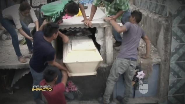 Desperate family smash into tomb of pregnant teenager who woke up screaming and banging on her coffin after being buried ALIVE