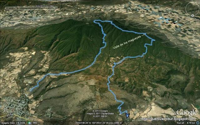 Ruta Cerro Viejo - Mapa original