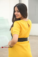 Actress Poojitha Stills in Yellow Short Dress at Darshakudu Movie Teaser Launch .COM 0309.JPG