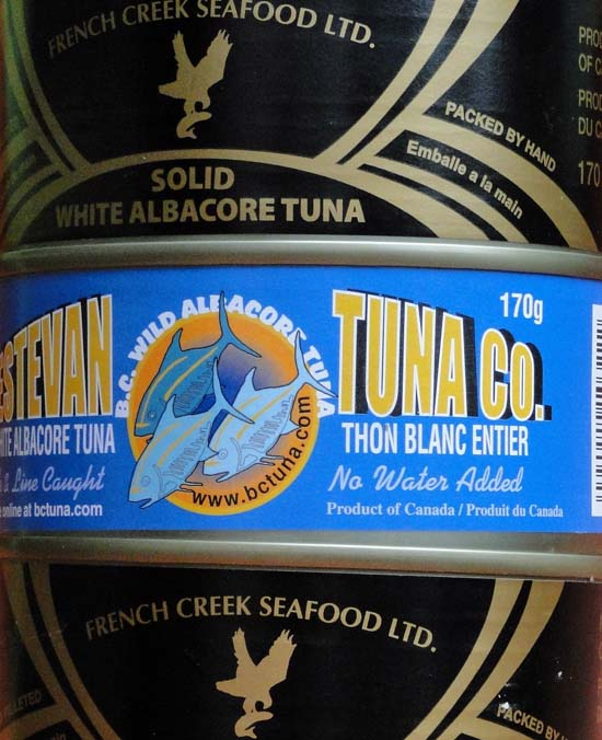 Canned White Tuna Labels that are products of Canada