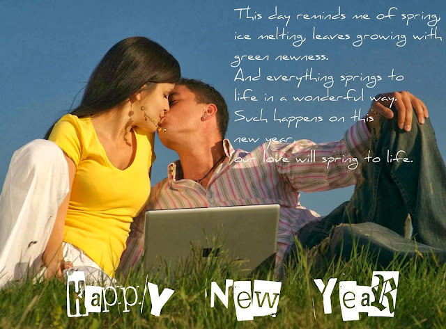 Happy New Year kiss image