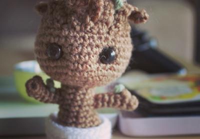 free baby groot crochet pattern